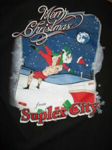 WWF Merry Christmas from SUPLEX CITY Exit F5 NORTH POLE (XL) T-Shirt