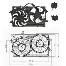 Dual Rad & Cond Fan Assembly Fits: 2000 - 2002 Ford Focus L4 2.0L  ONLY
