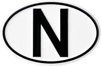 Hoch Relief N-Schild Emblem Norwegen N Norway Schild HR Art. 16006 selbstklebend