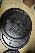 Vintage pair Weider 35 lb weight plates