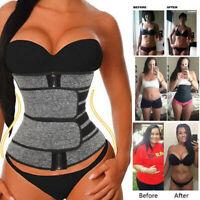 Women's Waist Corset Trainer Sauna Sweat Weight Loss Body Shaper Yoga Sport Belt
