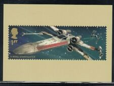 Great Britain X-Wing Starfighter Star Wars Royal Mail Stamp Card