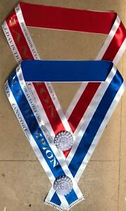 Sashes x 2 Horse Shows, Beauty Pageants, Championships Printed as required.