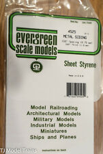 "Evergreen Styrene #4525 Metal Siding Sheet -- .030"" .08cm Spacing"