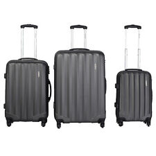 GLOBALWAY 3 Pcs Luggage Travel Set Bag ABS Trolley Suitcase w/TSA Lock Gray