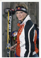 Original Autograph Card Maria - Höfl - Riesch Skirennläuferin (AU58)