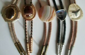 Vintage Lot Of  (5) FOUR  BOLO  TIES  - Nice Variety + 1 FREE   - see pictures