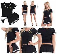 Sexy Women Girl Outfit School Fancy Dress Cheerleader Costume Role Play Uniform