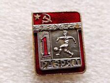 Vintage Soviet Badge Pin Sport Olympics,1 Sports Rank,Football,Soccer,Icon USSR