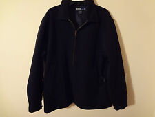 POLO RALPH LAUREN MENS  LONG SLEEVE FULL ZIP SWEATER JACKET BLUE LG /Z15
