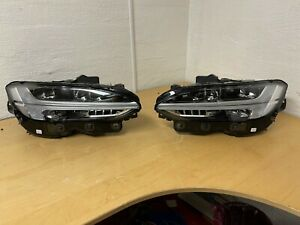 Genuine VOLVO S90 V90 LED ACTIVE HIGH BEAM HEADLIGHT SET RHD 31386167 31386166