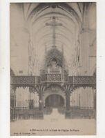 Aire Sur La Lys Jube de l'Eglise St Pierre France Vintage Postcard 891a