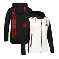 Khabib Nurmagomedov Reebok UFC Fight Kit Full-Zip Official Black Walkout Hoodie