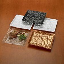 """120ct. Square 9"""" Dinner Plate Plastic Disposable-Reusable """"UNIQUE DESIGN"""" Colors"""