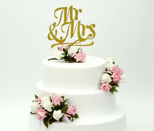 Mr and Mrs Cake Toppers and Wedding Cake Flowers - Foam Wedding Flower- Set of 4