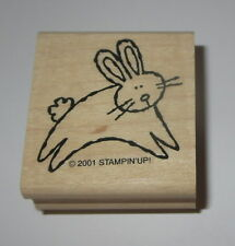 Bunny Rabbit Rubber Stamp New Stampin Up Jumping Cotton Tail Pet Animals NOS