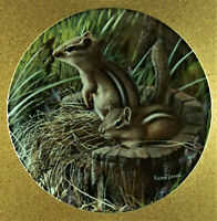 THE CHIPMUNK Plate Encyclopaedia Britannica Friends of the Forest Kevin Daniel