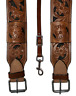 USED WESTERN LEATHER HORSE GIRTH REAR CINCH FLANK BILLET FLORAL SADDLE HARNESS