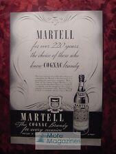 1936 Esquire Advertisement MARTELL Cognac Brandy