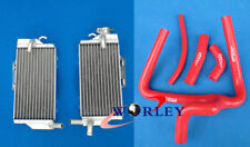 FOR Honda CR250 CR250R 05 06 07 2005 2006 2007 Aluminum radiator and Y hose