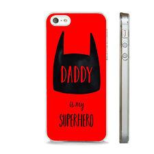 Superhéroe Padres Día Papá teléfono caso encaja APPLE IPHONE 4 5 6 7 8 X XS SE PLUS