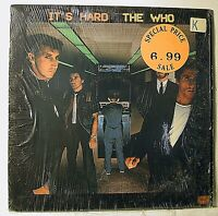 It's Hard by The Who Warner Brothers Vinyl LP 1982 NM- in original shrink wrap