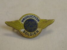 WWII Bakelite Curtis Wright Aviator Production Soldier Wings Pin