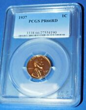 1937 1C RD (Proof) Lincoln Cent-PCGS PR66RD-180-43