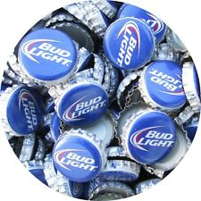 100 ( New Style )  Bud Light Beer Bottle Caps (No Dents). Free S&H