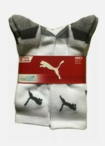 Puma Sports Socks | 8 Pack Crew | Cool Cell | White | UK 9-11