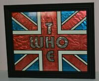 The Who Vintage Carnival Prize Bar Sign Rock and Roll Glass Front Wood Frame