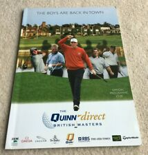 More details for 2006 british masters golf programme signed by 7 incl lee westwood & thomas bjorn