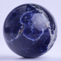 826g 86mm Large Natural Blue Sodalite Quartz Crystal Sphere Healing Ball Chakra