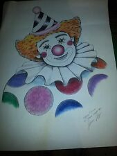 shane slayer happy clown hand drawing