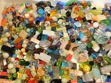 Assorted Mix of BEST Beads, Findings, Gem.- NO plastic/acrylic/wood~ 1/3 lb.