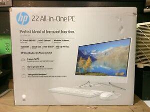 HP 22-df0003w AIO 3.33GHz, 4GB RAM, Snow White Brand New