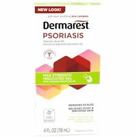 Dermarest Psoriasis Max Strength Medicated Gel Itch Relief 4 oz (Pack of 3)