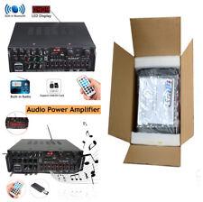 CAR Audio di potenza Amplificatore Altoparlante Hifi Telecomando USB DISPLAY LED BLUETOOTH