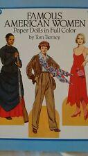 Famous American Women Paper Dolls by Tom Tierney - Uncut