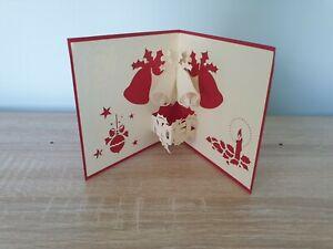 3d Popup Merry Christmas Bells Card