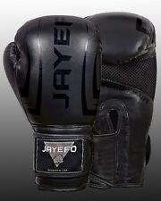 Leather Boxing Gloves Muay Thai Training Punching Bag Sparring Gloves MMA jayefo