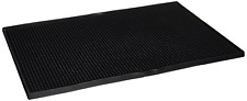 "Rubber Kitchen Mat Rug 18""x12"" Large Bar Service Spill Barware Glassware Black"