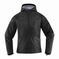 Icon Womens Stealth Black Textile Merc Stealth Motorcycle Jacket