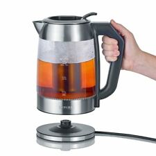 Severin WK3477 Digital Glass Tea / Water Kettle with Adjustable Temperature 1.7L