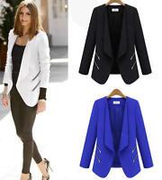 Women Girl Formal Office Work Long Sleeve Blazer Suit Jacket Coat Outwear Tops