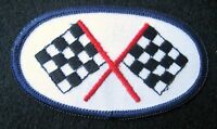 "RACING FLAG EMBROIDERED SEW ON PATCH RACE DAYTONA NASCAR UNIFORM 3 1/2"" x 2"""