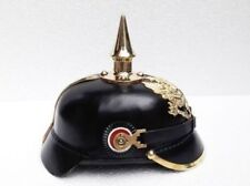 Imperial German Prussian Leather Pickelhaube Spike German helmet