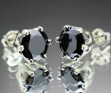 4.00 to 5.50tcw Real Natural Black Diamond Earrings AAA Grade & $2200 Value +