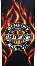 "Harley Davidson Motorcycle Beach/Pool Towel  Oil & Fire Fully License 30""x60"""