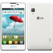 "Boost LG Optimus L5II (LG-E450F) Prepaid Mobile Phone in White - 4.0"" Screen"